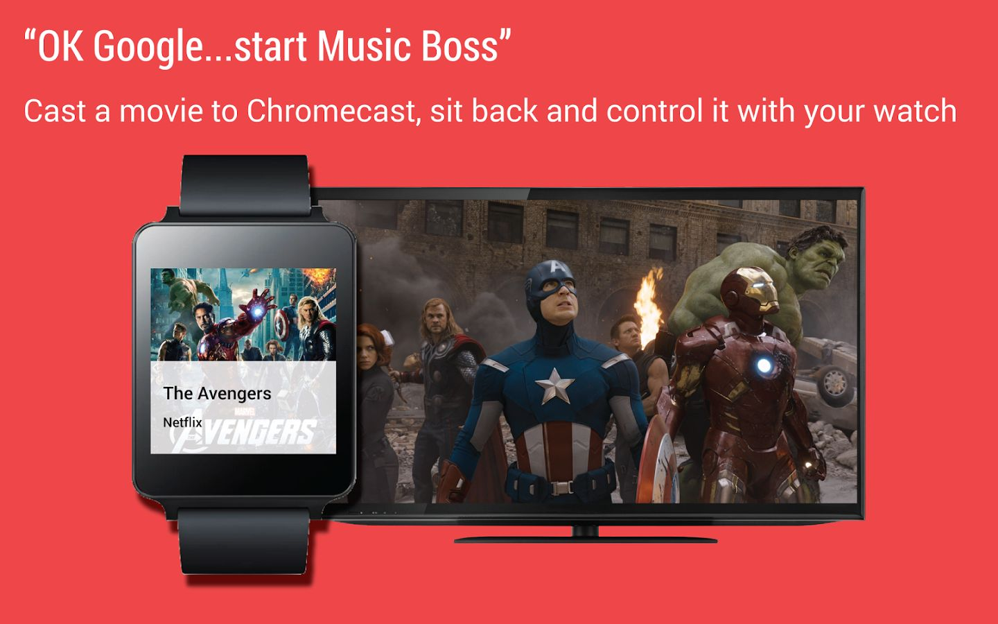 Control Media Playing In Chromecast With Your Smartwatch Using Music Boss for Wear App