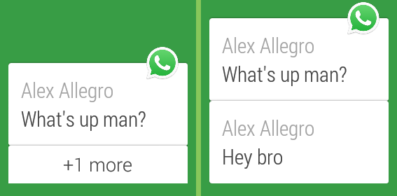 WhatsApp Android Wear Support