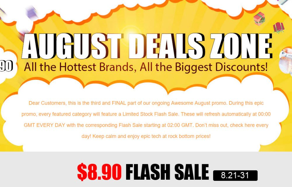 Gearbest August Deals Zone, Deals For Smartphone's and Watches